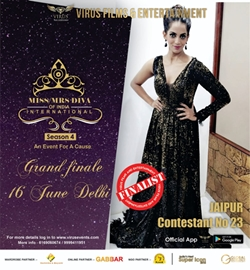 Miss-Mrs. Diva Of India International Season 4 Grand Finale On 16th June 2019 With Wild Card Entry Of Priyanka Meena  A Beauty Pageant