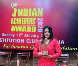 Indranee Talukdar Received Indian Achiever's Award 2020 In Delhi