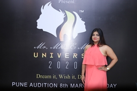 Sandy Joil Present MR MISS & MRS UNIVERSE 2020  Successful Pune Auditions