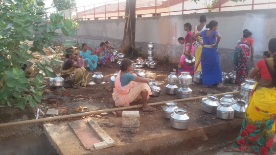 Nishikant Jha The Founder Of PNJ Films Is Arranging Ration Water For The Tribals And Some Stranded Labourers