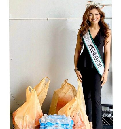 Shree Saini  Beauty With A Purpose – Donates Meals To Families In Need Serving During Coronavirus