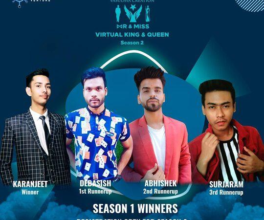 SURJARAM  REANG 3rd Runnerup Of India's First Online Beauty Pageant By Mr Ashwin Rajput – Mr & Miss Virtual King & Queen 2020  Season-1