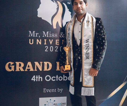 Pranav Pandey Bags Prestigious Award Mr Universe 2020 At Grand Finale In Mumbai The Pageant Presented By Joil Entertainmen