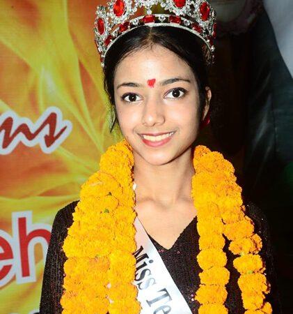 Karishma Mehra Winner Of  Miss Teen India Universe 2020 Earth  A Virtual Edition Presented By Ashwin Rajput