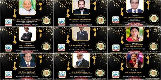 Nelson Mandela Noble Prestigious Peace Awards Held On 21st July 2021